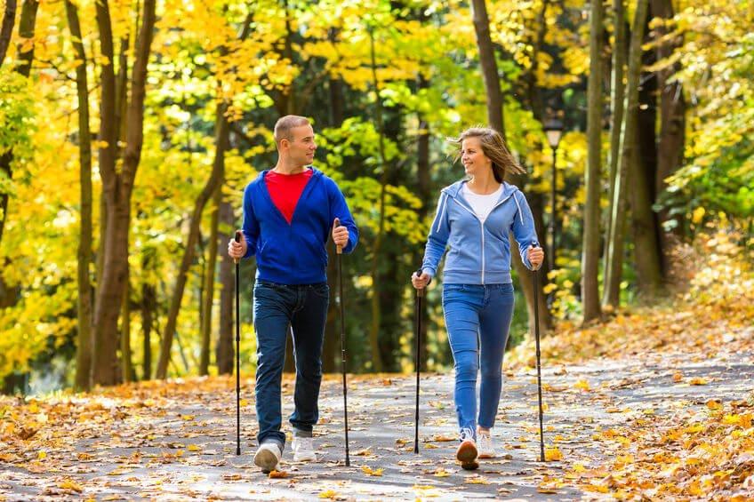 a nordic walking térd artrózisával)